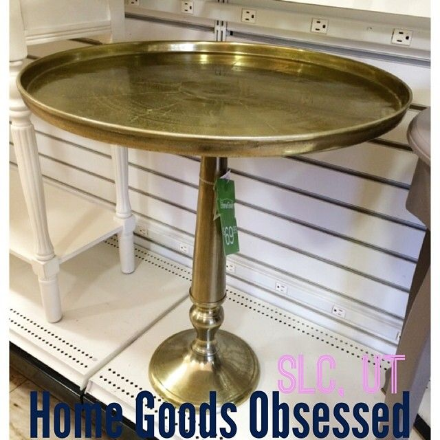 Round Coffee Tables At Homegoods: Brass Round Side Table? Fab. $69.99 #homegoods