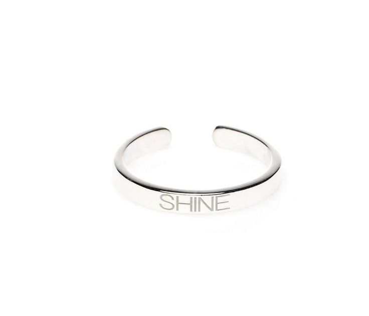 Power Quote SHINE Ring - HeidisHoff.no #silver #jewelry #adjustable #ring