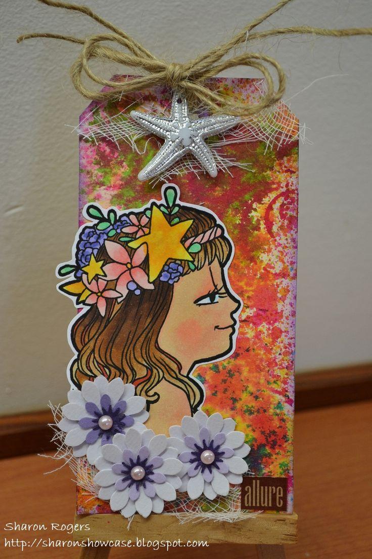 Tag Art, Mixed Media, Some Odd Girl, Flowers, Summer, Tropical, http://sharonshowcase.blogpsot.com