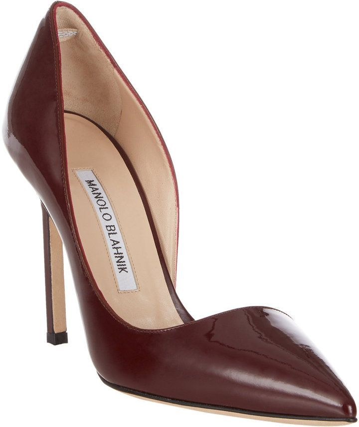 e72aba5e18a Manolo Blahnik Stresty Half dOrsay Pumps..super cute shoes.....   ManoloblahnikHeels