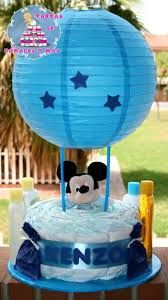 Image result for decoration ideas hot air balloon diaper cake basket ribbons embellishments