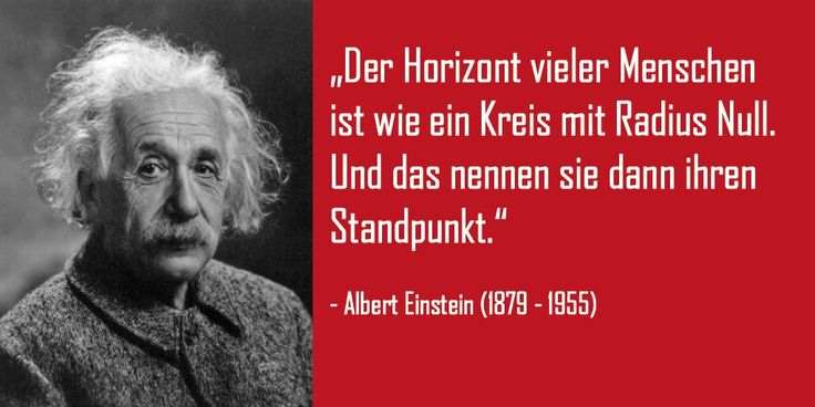 Einstein über Standpunkte