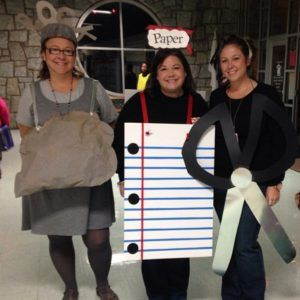 List of Best Ever Grade Level Costumes - Rock, Paper, Scissors Teacher Costumes                                                                                                                                                                                 More