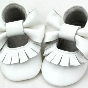 Fawn & Finch – White Mary Jane Moccasins these gorgeous baby and toddler mary jane fringe moccasins are made from super soft cow leather are the perfect combination of comfort and durability.  with elastic openings, these soft-soled moccasins offer ease in putting them on and taking them off of little wiggly toes. the best part? these moccasins are temper tantrum proof! the flexible elastic opening also serves as a secure fit for those little kickers.  made to suit both infants and toddlers
