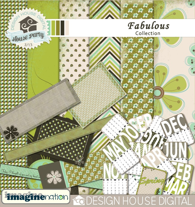 Fabulous Scrapbooking Collection, excellent value for money!Have fun and save money with this collection of papers, tags and calendar journalling cards. This collection includes:Fabulous Paper Kit- 6 12x12 distressed papers 300 dpi in Digital scrapbooking kit available at Design House Digital.  • $5.24 • by Imaginenation