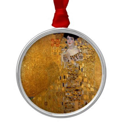Gustav Klimt - Adele Bloch-Bauer I Painting Metal Ornament - glam gifts unique diy special glamour