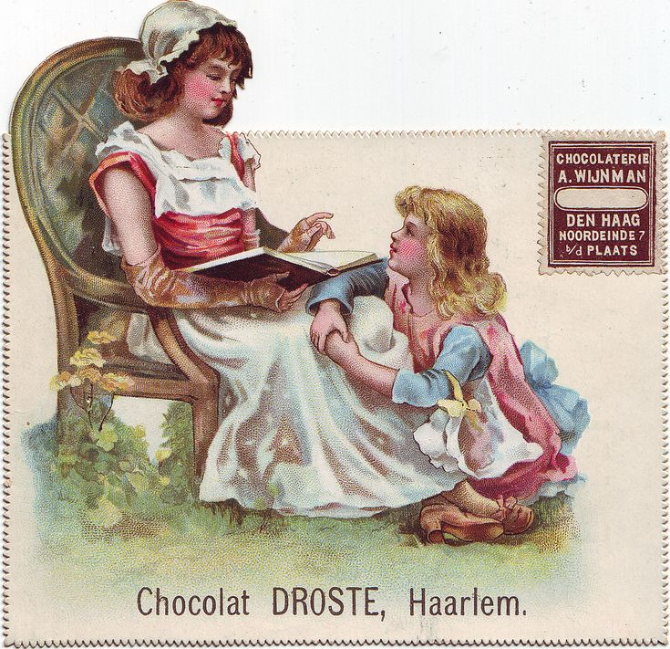 chocolat droste girl reading to smaller girl | par patrick.marks
