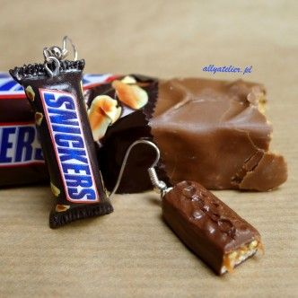 Snickers earrings.