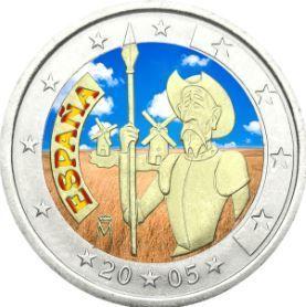 2 €, Έγχρωμο, 400 χρόνια Δον Κιχώτης, Ισπανία, 2005 Νομίσματα CoinsClub.gr