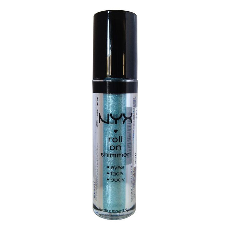 NYX Roll on Eye Shimmer - Light Blue with Silver Glitter for Face, Eyes and Body * Click image to review more details. (Note:Amazon affiliate link)