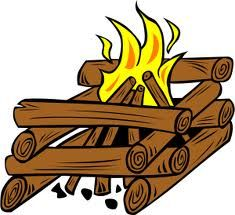 Log Cabin-style Campfire - different types of campfires, their functions and how to build them