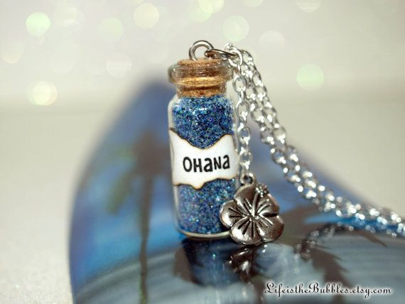 Lilo and Stitch OHANA Family Magic Necklace by LifeistheBubbles