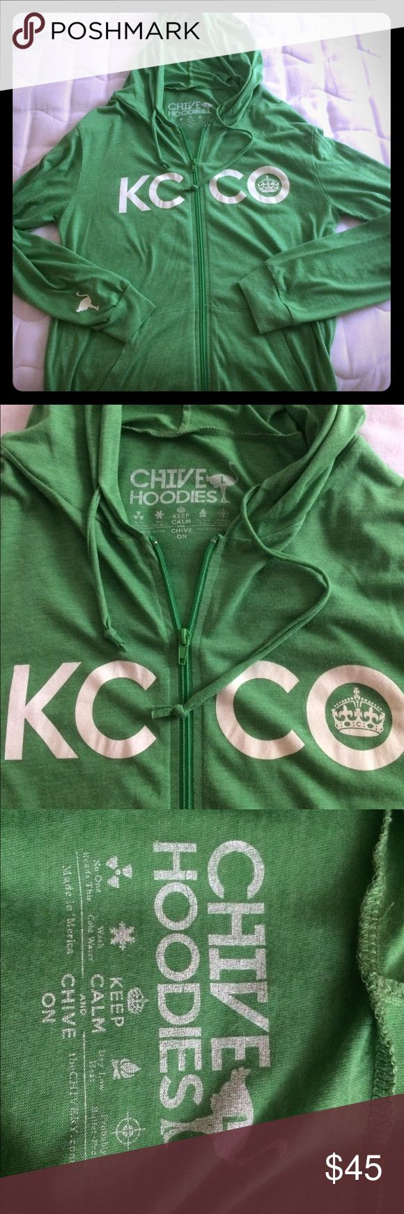 The Chive Spring Hoodie The Chive spring hoodie. Size large. In excellent condition from a smoke free home. Lightweight and perfect for a cool summer evening. Chive On! TheChive Shirts Sweatshirts & Hoodies