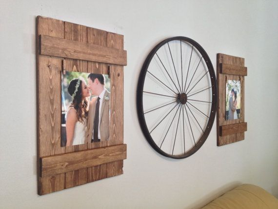 These picture frames can easily become the focal point in a room! Such a beautiful and rustic way to display you and your loved ones memorable