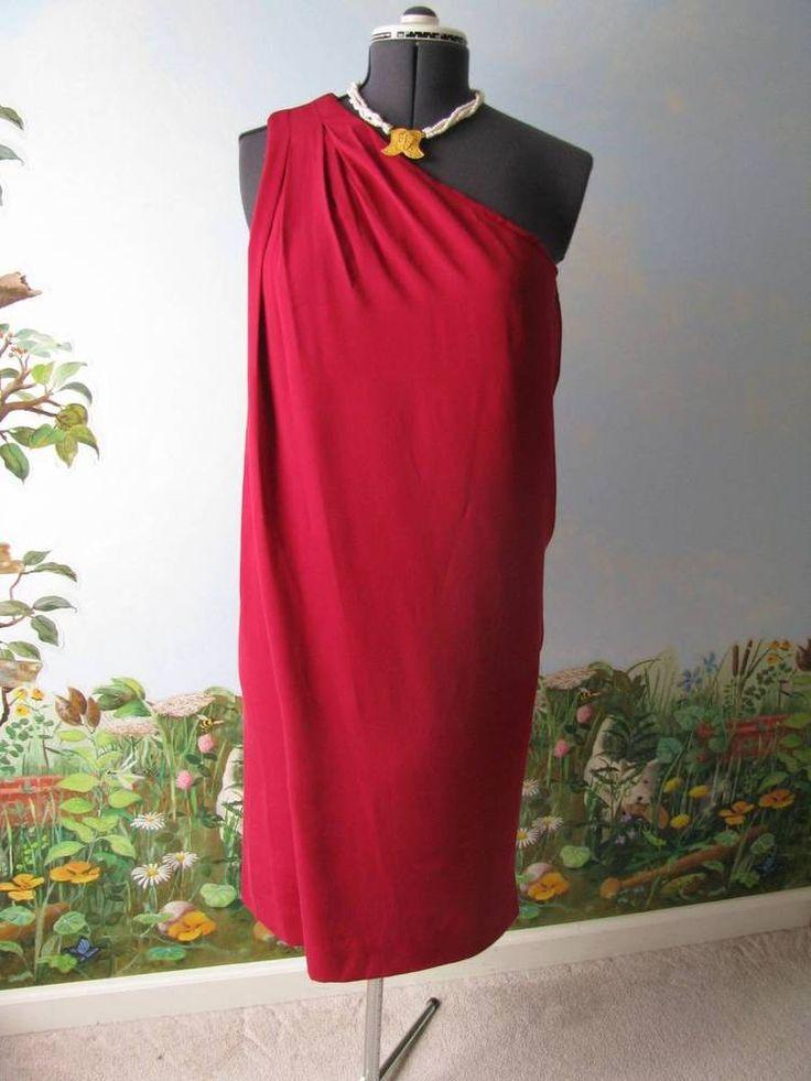 """Diane von Furstenberg DVF """"Liluye Short"""" Crimson Dress Sz 10 $500 NWT #DVF #Cocktail"""