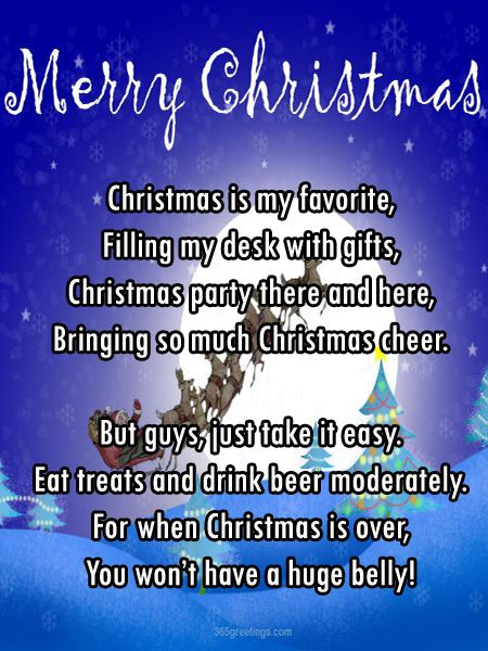 funny poems about christmas for adults