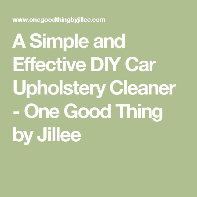 Best 25 Car Upholstery Cleaner Ideas On Pinterest