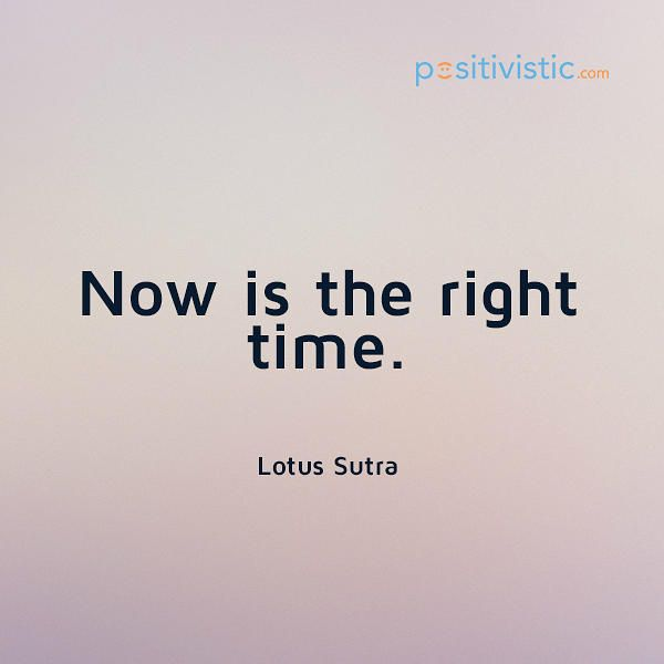 encouragement to take action: lotus sutra encouragement time action motivation change