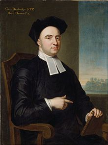 """Portrait of Berkeley by John Smybert, 1727. """"Doth the reality of sensible things consist in being perceived? or, is it something distinct from their being perceived, and that bears no relation to the mind?""""   Philonous to Hylas.  Image Source: http://en.wikipedia.org/wiki/George_Berkeley ; Quote Source: http://en.wikiquote.org/wiki/George_Berkeley ; See: Three Dialogues between Hylas and Philonous (1713);"""