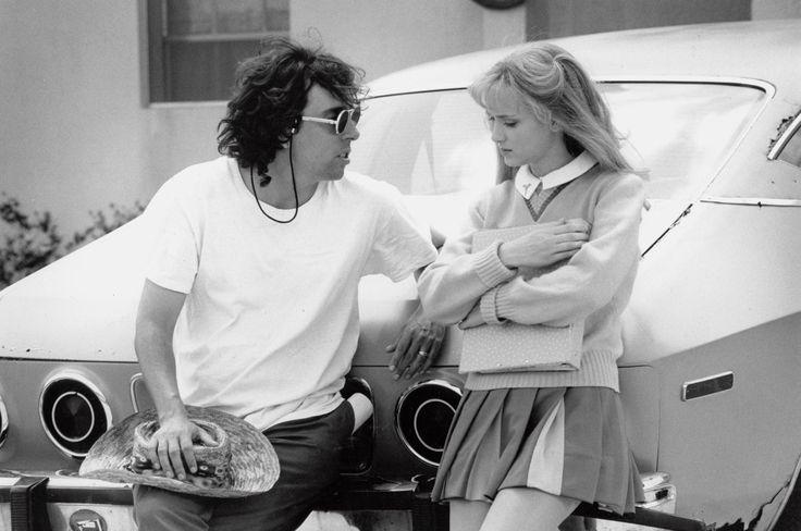 "Tim Burton & Winona Ryder in ""Edward Scissorhands"", 1990. Photo by Zade Rosenthal, 1990"