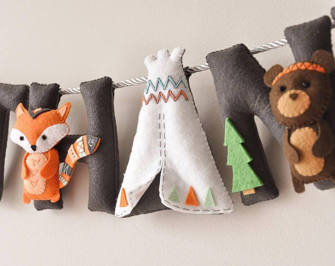 fox pillows  decorations for baby room boy bedroom set of 2   felt woodland nursery decor- custom name stuffed animal baby girl