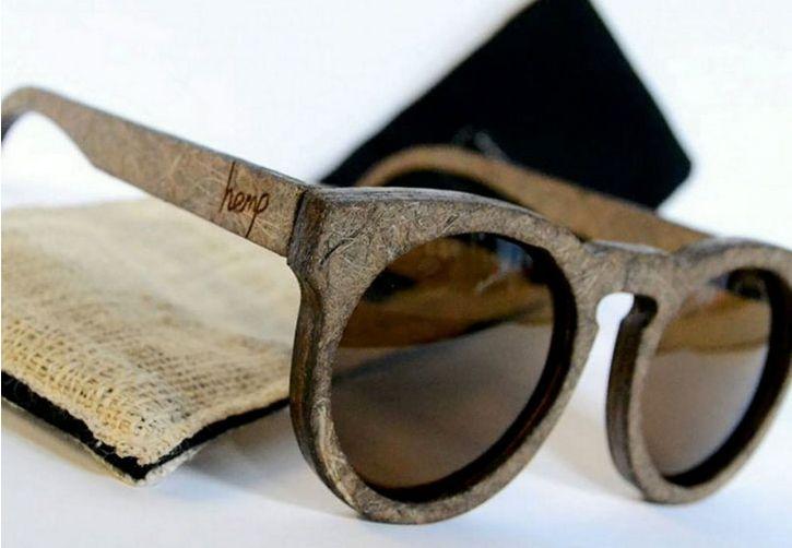 Sunglasses made from 100& biodegradable hemp
