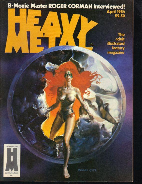 Heavy Metal Magazine April 1984 Roger Corman by PsychoActiveStudio