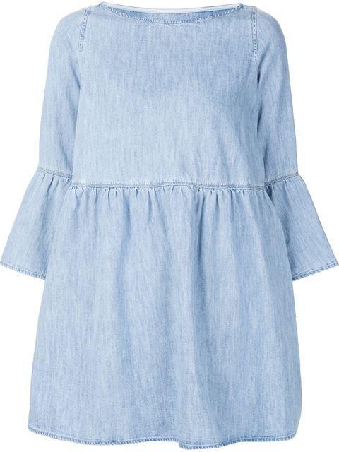 Mm6 Maison Margiela джинсовое платье с рукавами-колокол