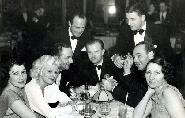 Jean at the Trocadero, c. 1935, with Edith Gwyn Wilkerson, William Powell, William Hynes, Anderson Lawler & Edith.