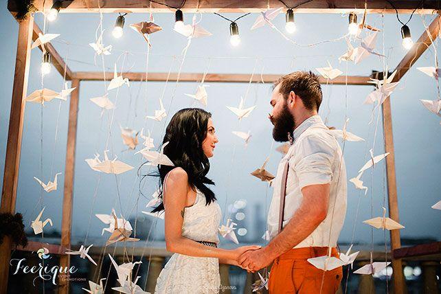 Свадьба для двоих на крыше, церемония бракосочетания