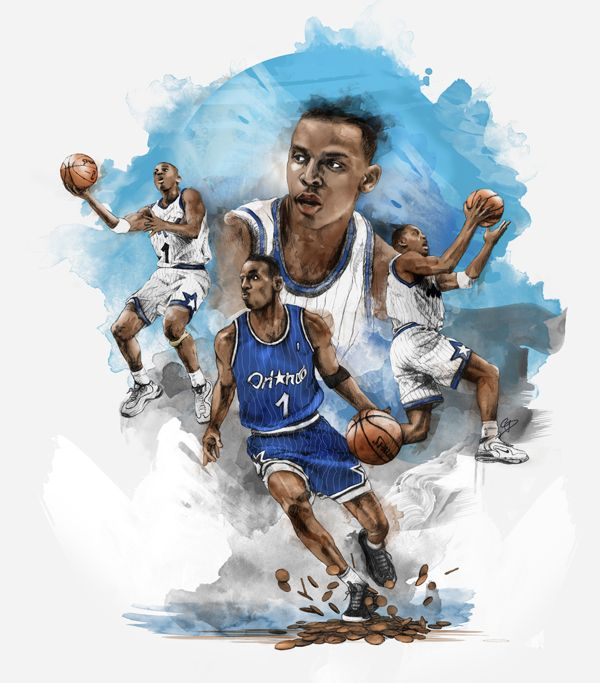 Penny Hardaway by Chris DiBenedetto, via Behance