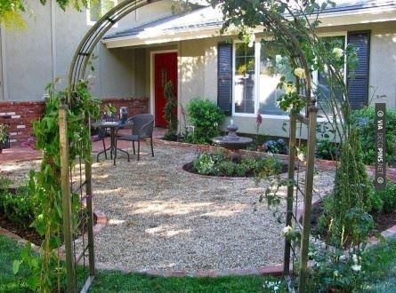 66 best gravel patios images on pinterest   backyard ideas, patio ... - Front Yard Patio Ideas