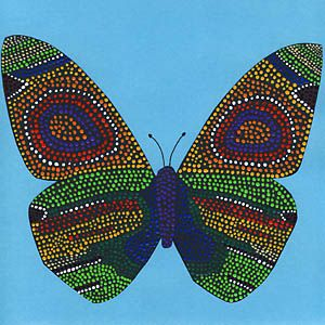 Dot-Painting - Schmetterling