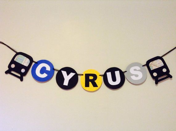 NYC MTA Subway train name banner by Cookiesandcreatures on Etsy