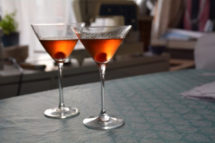 Manhattan: Crown Royal, Martini Rosso and Angostura Bitter. A classic.