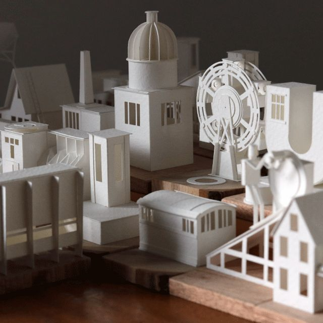 Last year we were thrilled to discover this little paper world constructed by artist Charles Young who conceived of the idea as a 365-day creative project to explore different architectural forms through paper,
