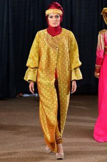 model busana muslim cardigan songket terbaru 2016