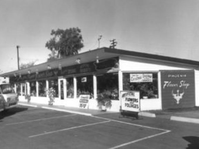 Phoenix Flower shops, founded 1960, shown here at its original location at 6505 N. Seventh St. in Phoenix. It moved in 1987 a few miles south.