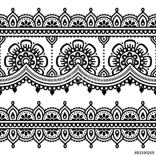 indian border brodrie pattern