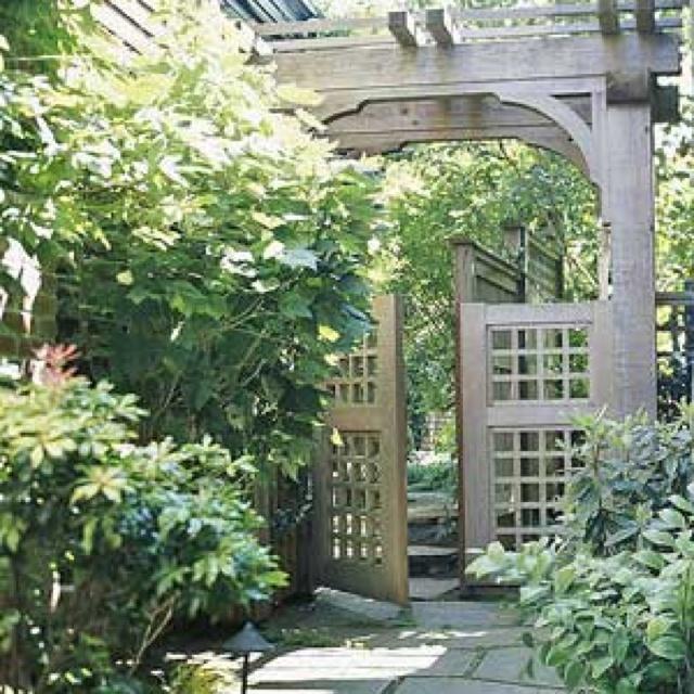 Asian garden gate.