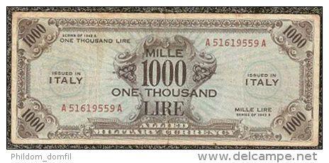 1000 LIRE OCCUPAZIONE AMERICANA IN ITALIA 1943
