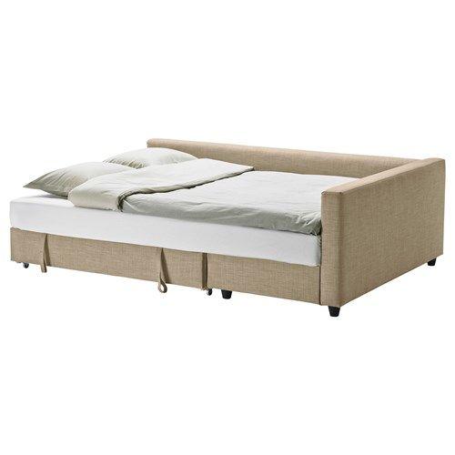 FRIHETEN,bazalı yataklı köşe kanepe