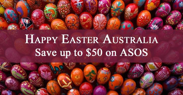 Easter is coming and there are 3 new discount codes for ASOS AU. http://www.codesium.com