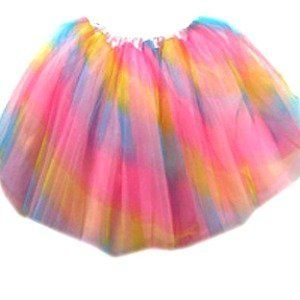 Rainbow Fairy Princess Tutu by Coxlures. $7.93. Stretch waist. Measures 12 in long. Fits kids ages 3-10 years. This affordable rainbow ballet or dress up tutu can be worn on its own, just for fun, or add some rainbow wings & glitter to create a fun fairy costume. Any way you choose to use it the tutu is sure to be a hit. The below quantity discounts will work in any combination with all of our tutus! Discounts calculated at checkout.  |Quantity To Purchase| Disco...