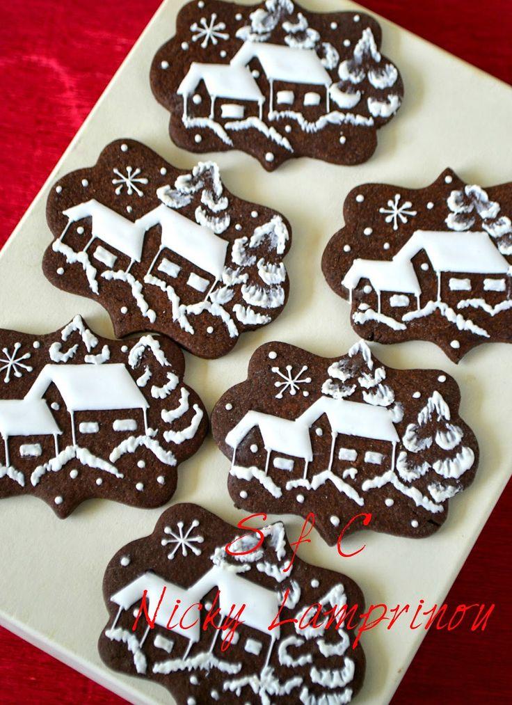 Sugar flowers Creations-Nicky Lamprinou: Μπισκότα σοκολάτας