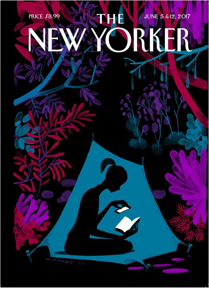 "The New Yorker - Monday, June 5, 2017 - Issue # 4690 - Vol. 93 - N° 16 - Cover ""Enchanted Forest"" by Christoph Niemann Sehenswerte Doku über ihn bei Netflix (""Abstrakt, Design als Kunst)"