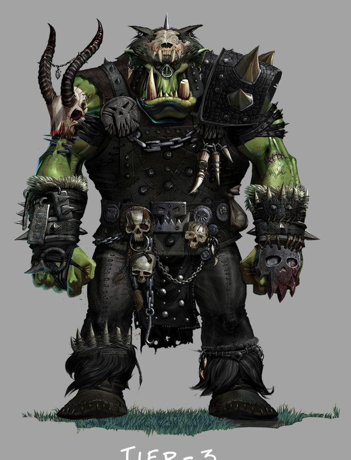 Greenskins MMO Armor , Ted Beargeon on ArtStation at http://www.artstation.com/artwork/greenskin-mmo-armor