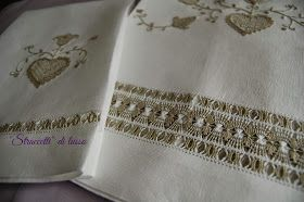 """""""Straccetti"""" di lusso: Asciugamani ricamati con sfilatura"""