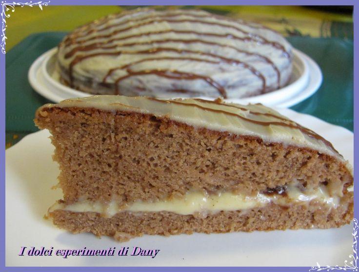 Torta alla nutella e crema al cioccolato bianco | I dolci esperimenti di Dany