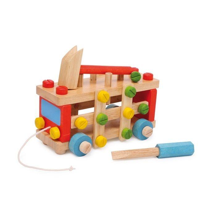 Juguete educativo en forma de coche de construcción de #madera para #niños